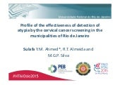 HTAi 2015 - Profile of the effectiveness of detection of atypia by the cervical cancer screening in the municipalities of Rio de Janeiro
