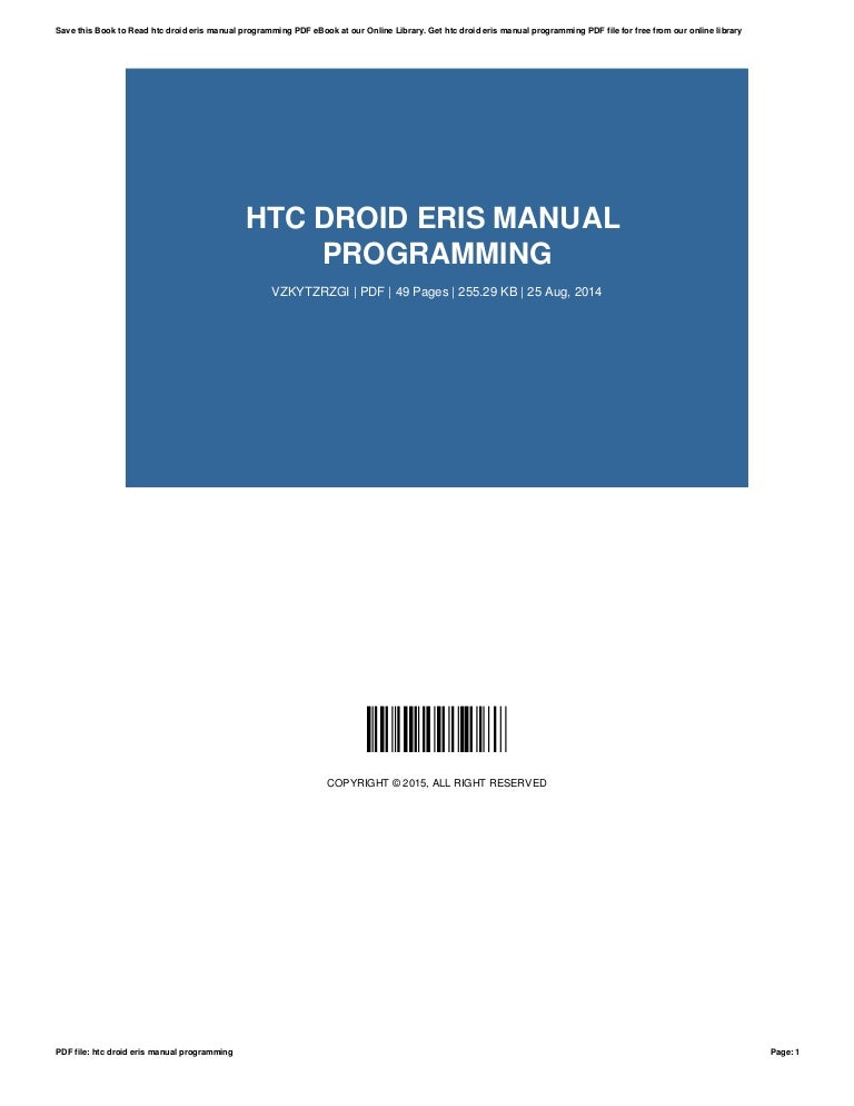 htc droid eris manual programming rh pt slideshare net