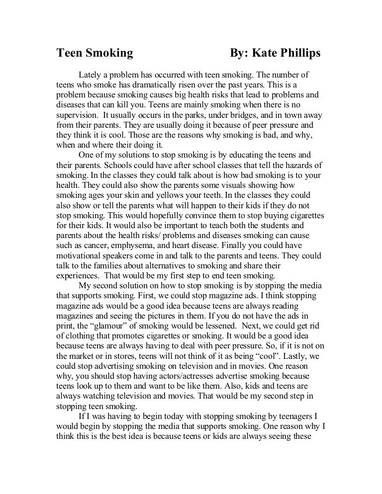Problem solution essay about smoking