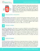 Is Now the Time to Prepare for HTML5?