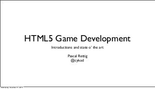 HTML5 Game Development Introduction