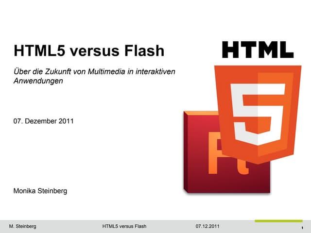 Html5 versus Adobe Flash