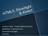 HTML5, Silverlight & Kinect
