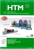 Cover HTM - Journal of Heat Treatment and Materials - Edition 6/2018S - SOLO Swiss