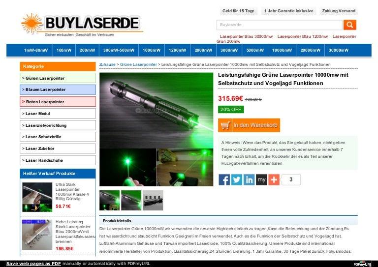 Leistungsfähige Grüne Laserpointer 10000mw mit Selbstschutz und Vogel…