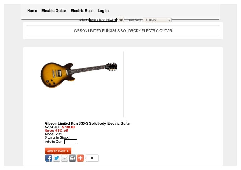 gibson limited run 335 s solidbody electric guitar. Black Bedroom Furniture Sets. Home Design Ideas