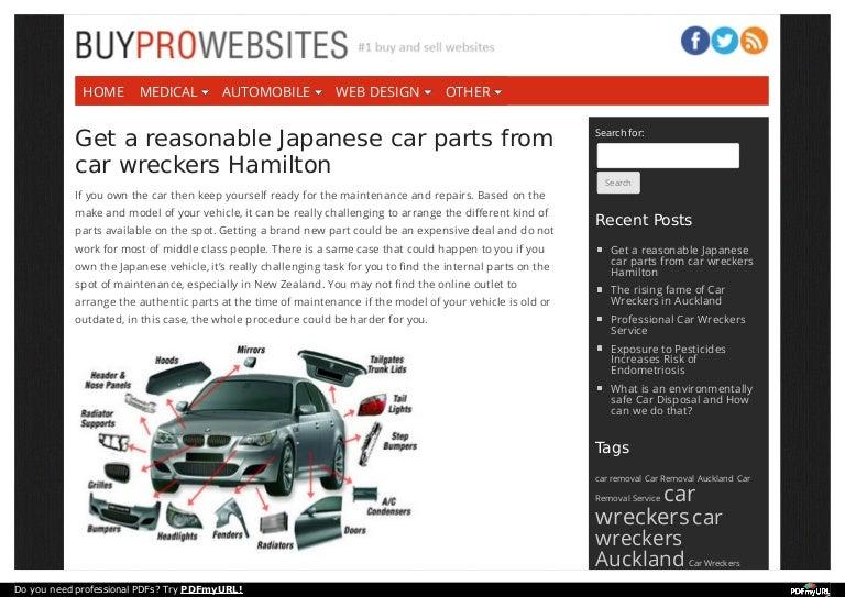 Get A Reasonable Japanese Car Parts From Car Wreckers Hamilton
