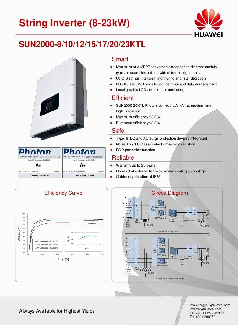 Huawei Sun2000 Solar String Inverters 8 23kw Pv Inverter Wiring Diagram