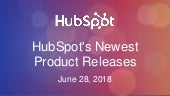 Cleveland HUG: HubSpot's Newest Product Releases