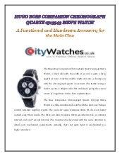 Hugo boss companion chronograph quartz mens watch