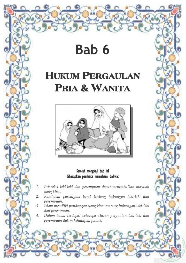 Hukum Pergaulan Pria Dan Wanita Bab 6 Buku Mentoring Islam Saja