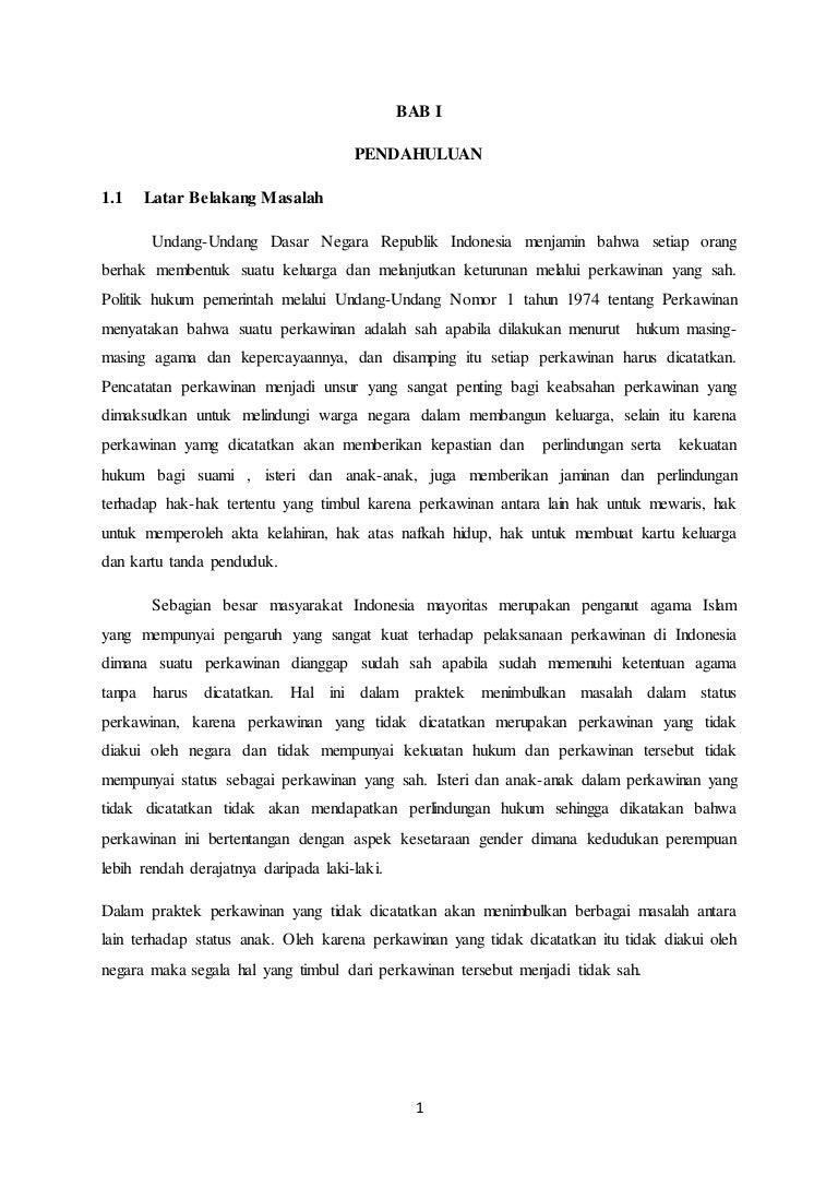 Contoh Proposal Skripsi Hukum Perdata Tentang Perkawinan Kumpulan Berbagai Skripsi