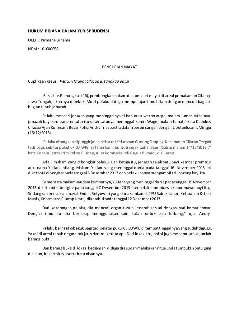 Hukum Pidana Dalam Yurisprudensi