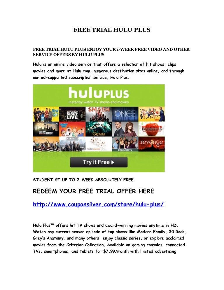 hulu plus free trial - 768×994
