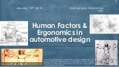 Human Factors & Ergonomics in Automobile Enineering