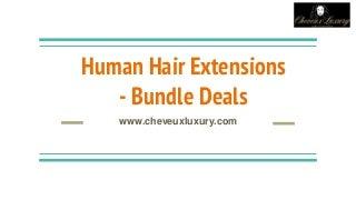 Best Human Hair Extensions Bundle Deals