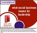 What Social Business Means for Leadership