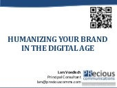 Humanizing your brand in the digital age - PRecious Communications