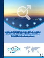 Human Papillomavirus (HPV) Testing Market: Global Industry Analysis and Forecast 2016 - 2024