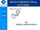 Human rights of an accused