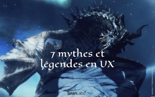Mythes et légendes en UX par Marc Wabnitz