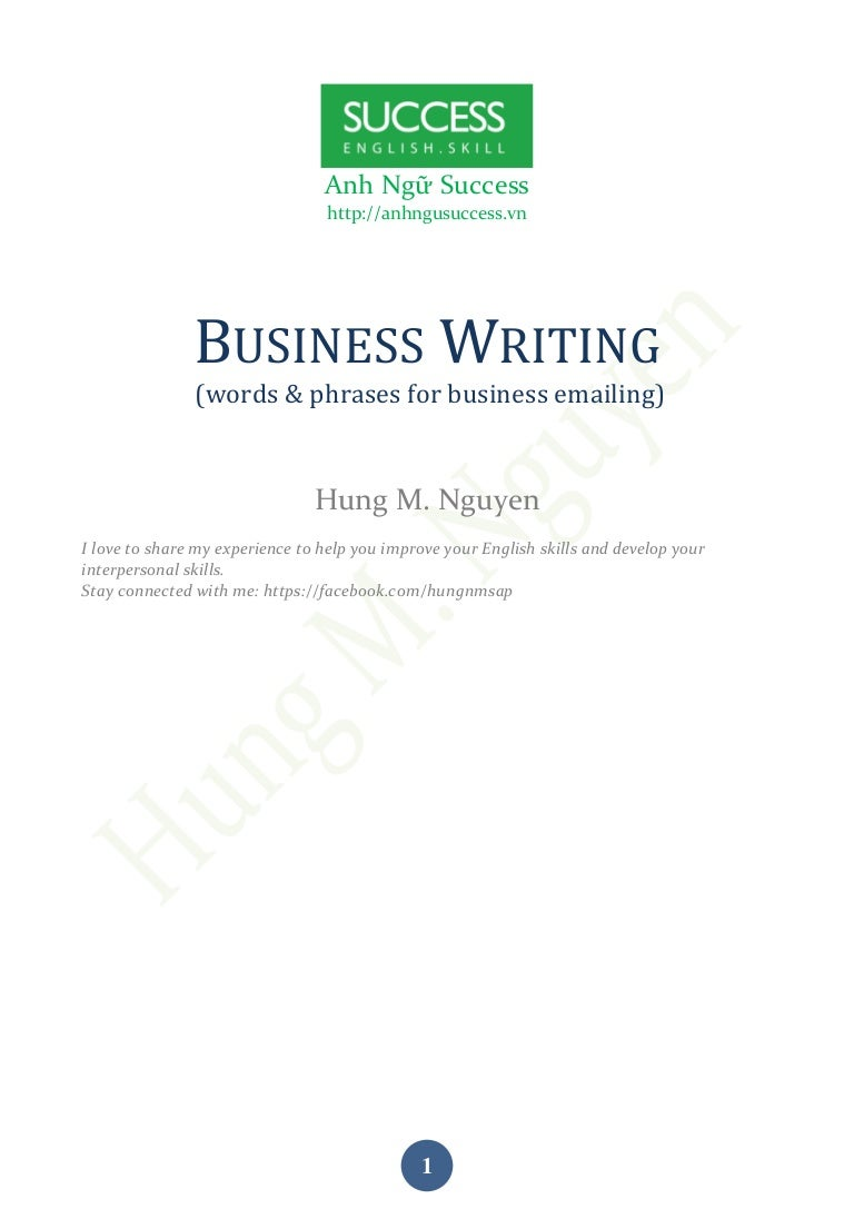 Guide For Writing Business Emails Hung M Nguyen