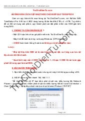 Hướng dẫn cập nhật HDD cho NAS HS-DHGL