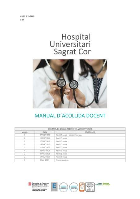 Manual de acogida Residentes FSE Hospital Universitari Sagrat Cor 2021