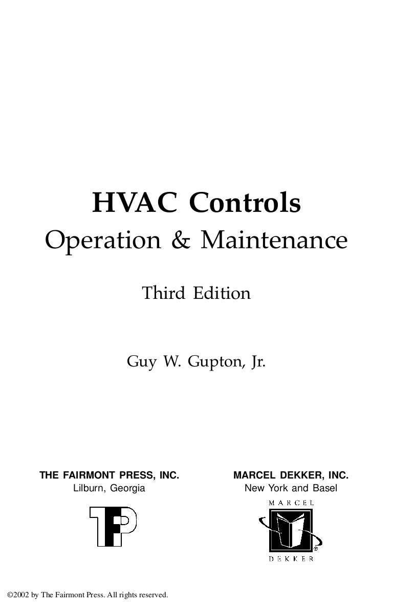 Hvac Controls Operation And Maintenance 3rd Edition G W Gupton Control Logic Diagram