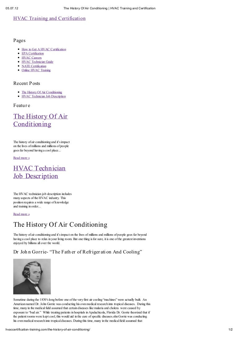 Hvac education the history of air conditioning xflitez Choice Image