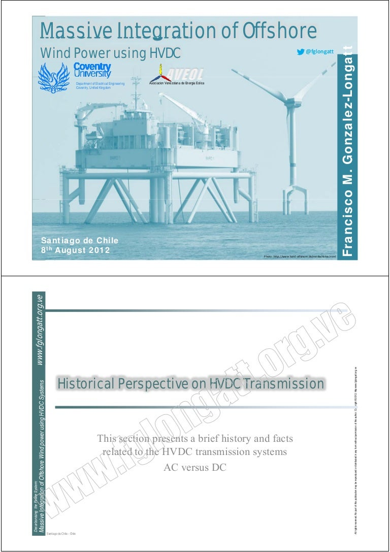 Massive Integration Of Offshore Using Hvdc 8th August 2012 York Dcg Wiring Diagrams Hvac Gas