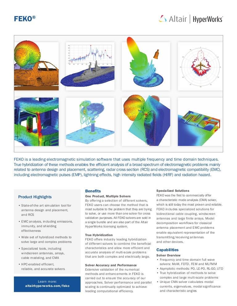 FEKO - Electromagnetic Simulation Software in Altair HyperWorks