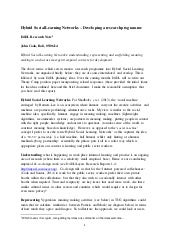 Hybrid social learning networks   internal d4 dl research note - 05-06-14
