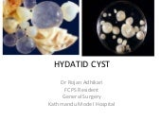 Hydatid cyst