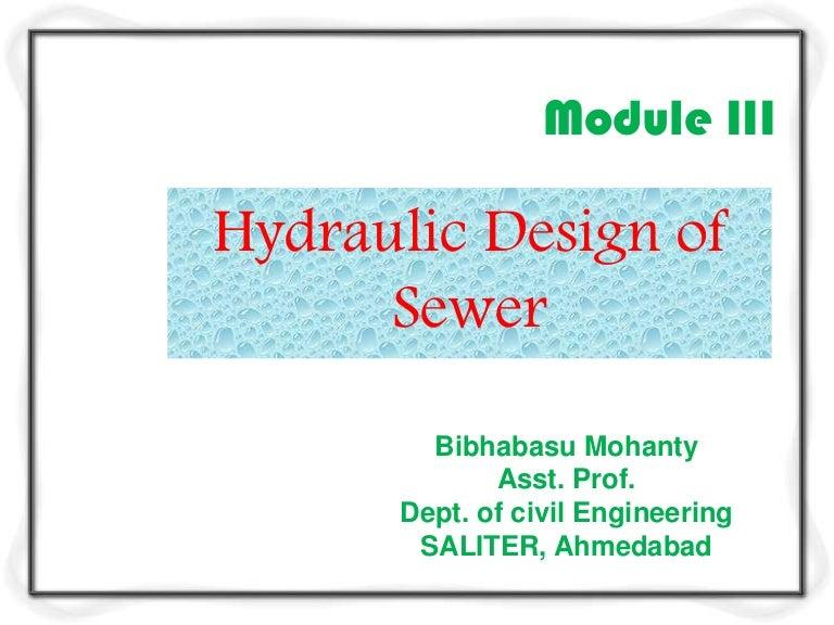Hydraulic Design Of Sewer