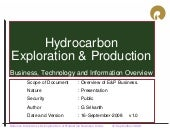 Hydrocarbon business overview