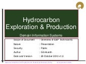 Hydrocarbon E&P processes applications and computer uses