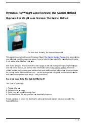 Hypnosis Weight Loss Reviews: Program Yourself Thin Review