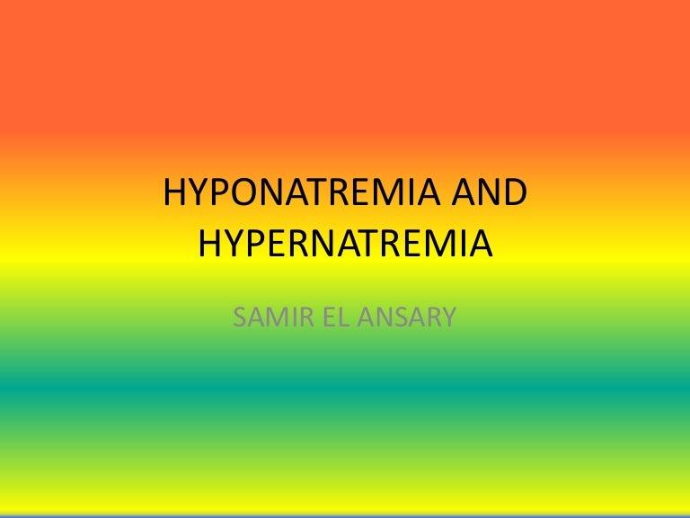Hyponatremia drugs