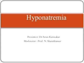 Hyponatremia ppt.final