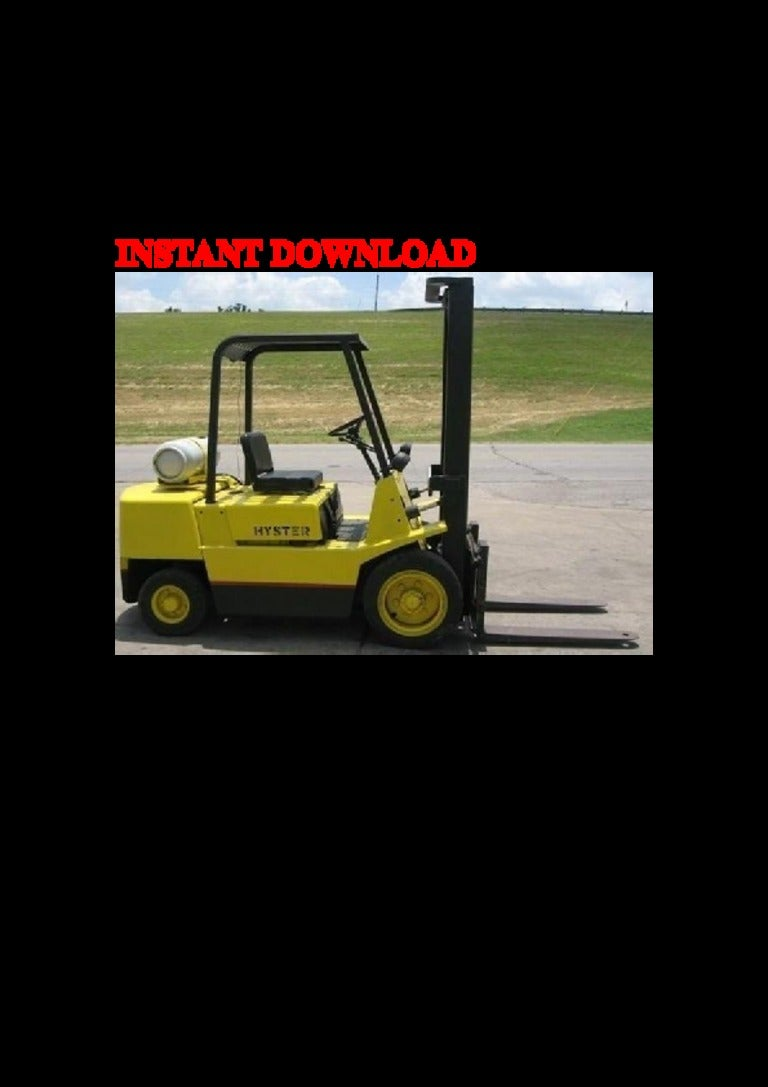 Hyster H50xl Forklift Manual