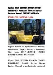 HYSTER H440FS H550FS H550F H620F H650F H700F //FS SERVICE SHOP REPAIR MANUAL BOOK