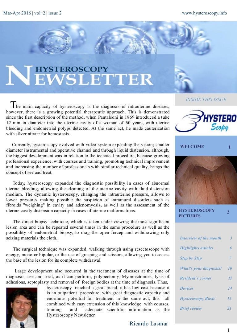 Monthly after hysteroscopy: important points 71