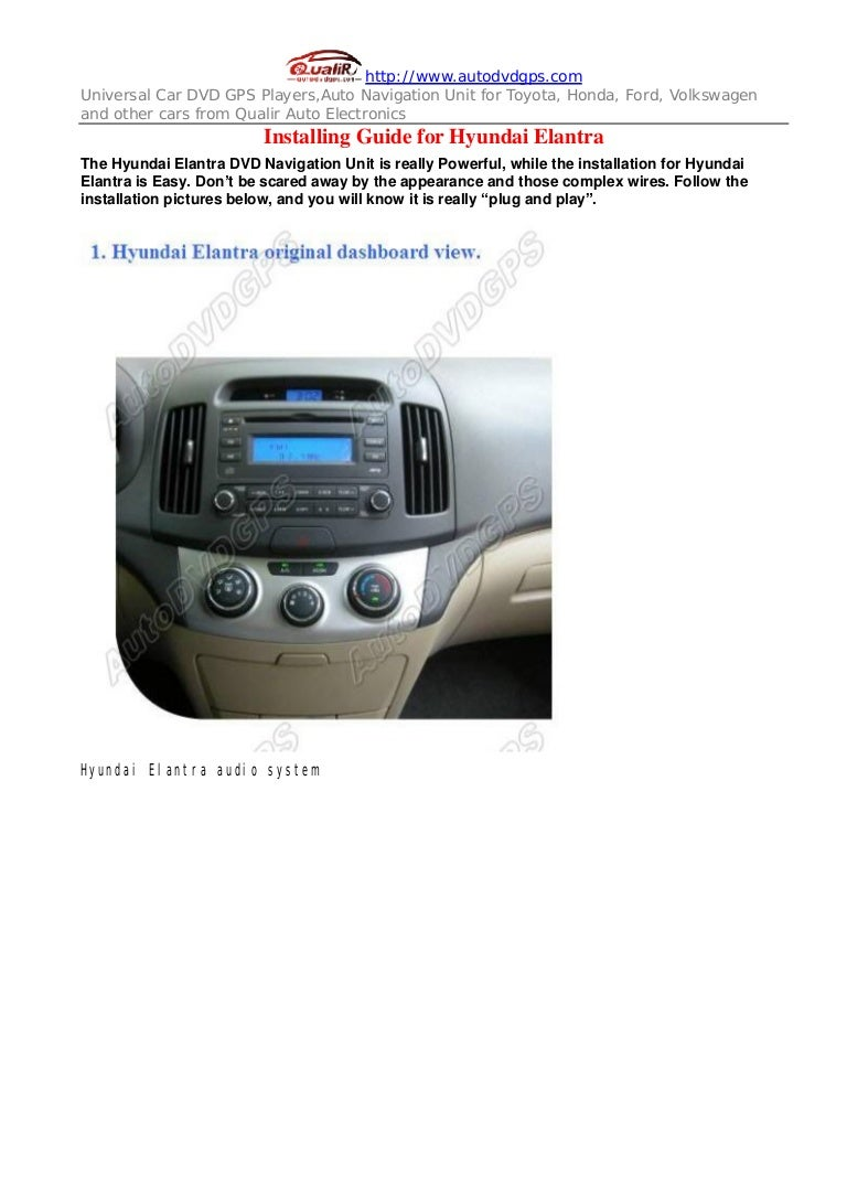 Hyundai elantra dvd gps navigation system installing guides freerunsca Images