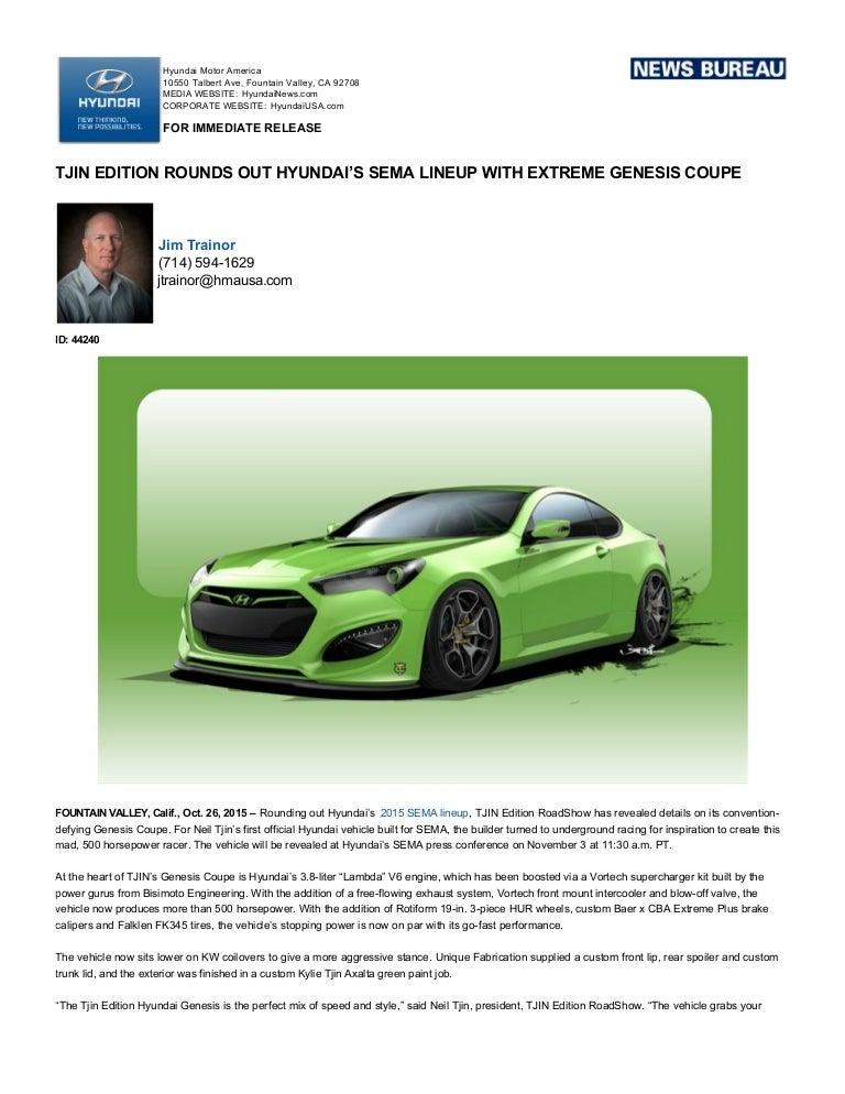 Hyundai genesis coupe tjin edition sema 2015