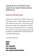 hyundai hl780 9s wheel loader service repair workshop manual download