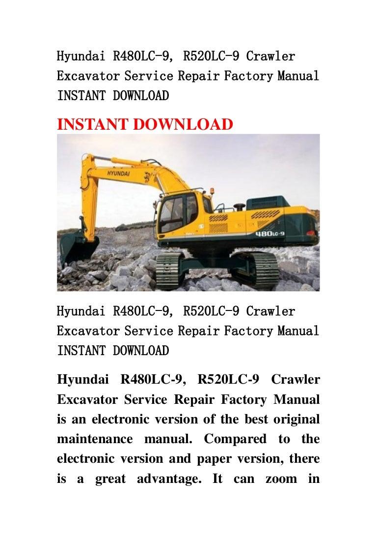 Hyundai R480 Lc 9  R520lc