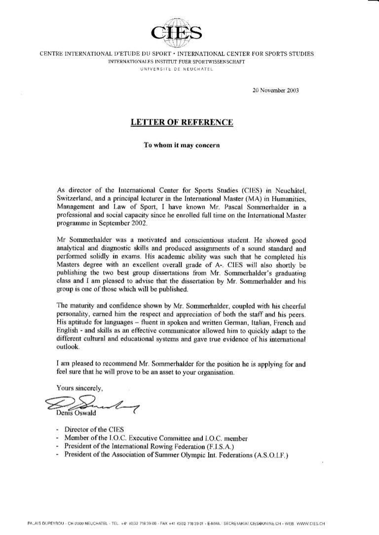 Ioc reference letter aljukfo Choice Image