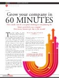 Grow your company in 60minutes