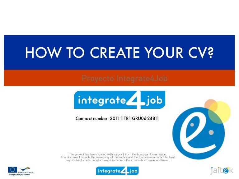 How To Create Your Cv